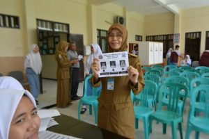 Demokrasi dalam Pemilihan Ketua Osis SMKN 1 Trenggalek