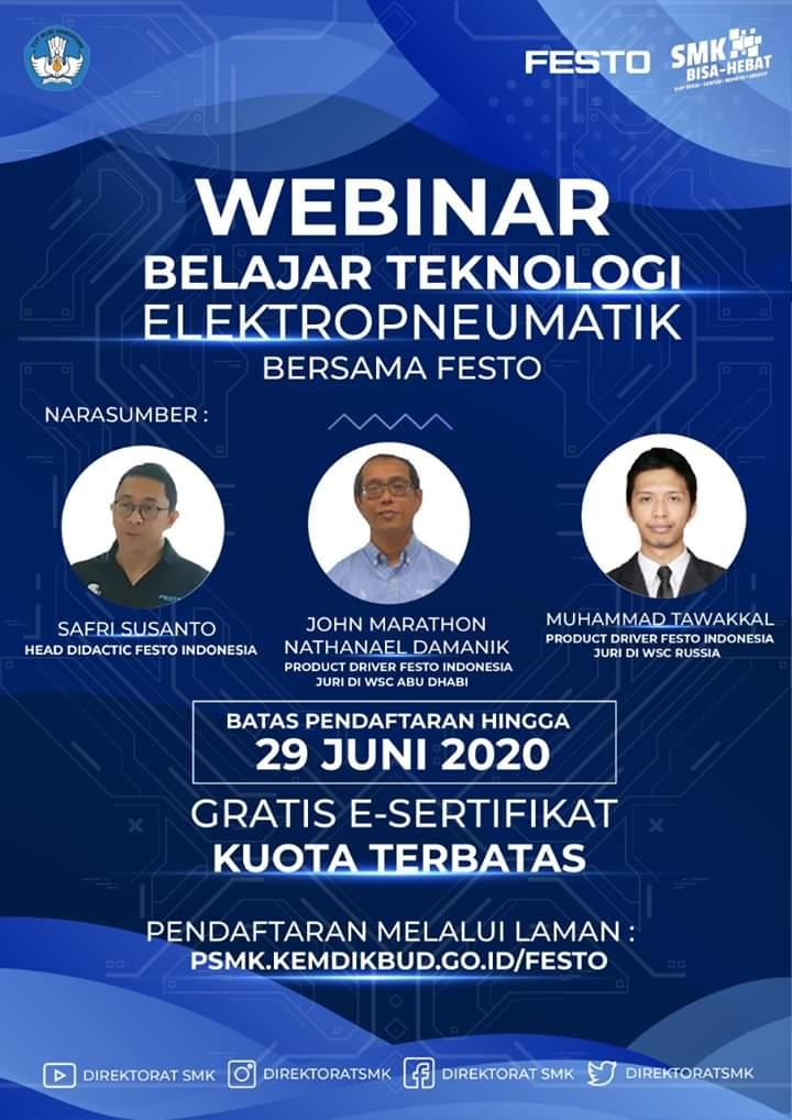 Webinar Belajar Teknologi Elektropneumatik